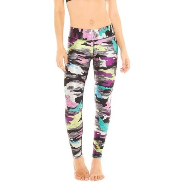 f6d69e780759e Terez Pants | Multi Camo Tall Band Leggings Nwt | Poshmark